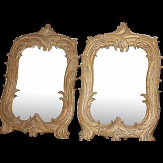 Pair of Gold Gilt Antique Mirrors