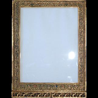 """Genuine Art Nouveau Tiffany """"Venetian"""" Picture Frame ~12x9"""