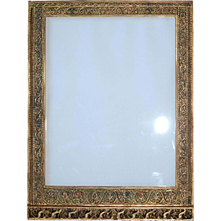 Genuine Lg Art Nouveau Tiffany Pic Frame Venetian