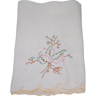 Vintage Embroidered Hand Towel