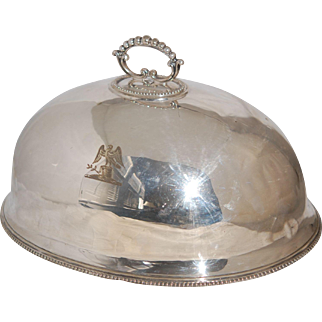 Victorian Silver Meat Food Warmer Dome
