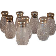 CLEARANCE: Set of 8 Individual Sterling Top Salt Shakers Halmarked