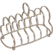 Silver Plate Toast Rack, EX Co