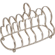 Vintage Silver Plate Toast Rack, EX Cond