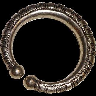 Vintage South India Engraved Silver Bangle