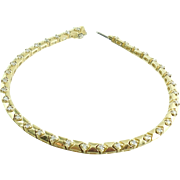 Vintage 14k Yellow Gold Diamond Tennis Eternity Bracelet 11gr Medium
