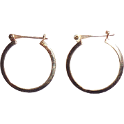 Vintage 14K Gold Hoop Earrings Small/Medium 7/8 inch