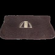 Original 1940s Art Deco Lucite Corde Hand Bag Clutch Jack Frost