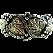 Vintage Black Hills 12K Gold Sterling Silver Pebbled Ring 7