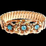 Art Deco GF Sterling Silver LUSTERN Carmen Expansion Bracelet WW II Sweetheart