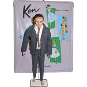 1961 Barbie Mattel Flocked Brunette Ken Doll Clothing Case