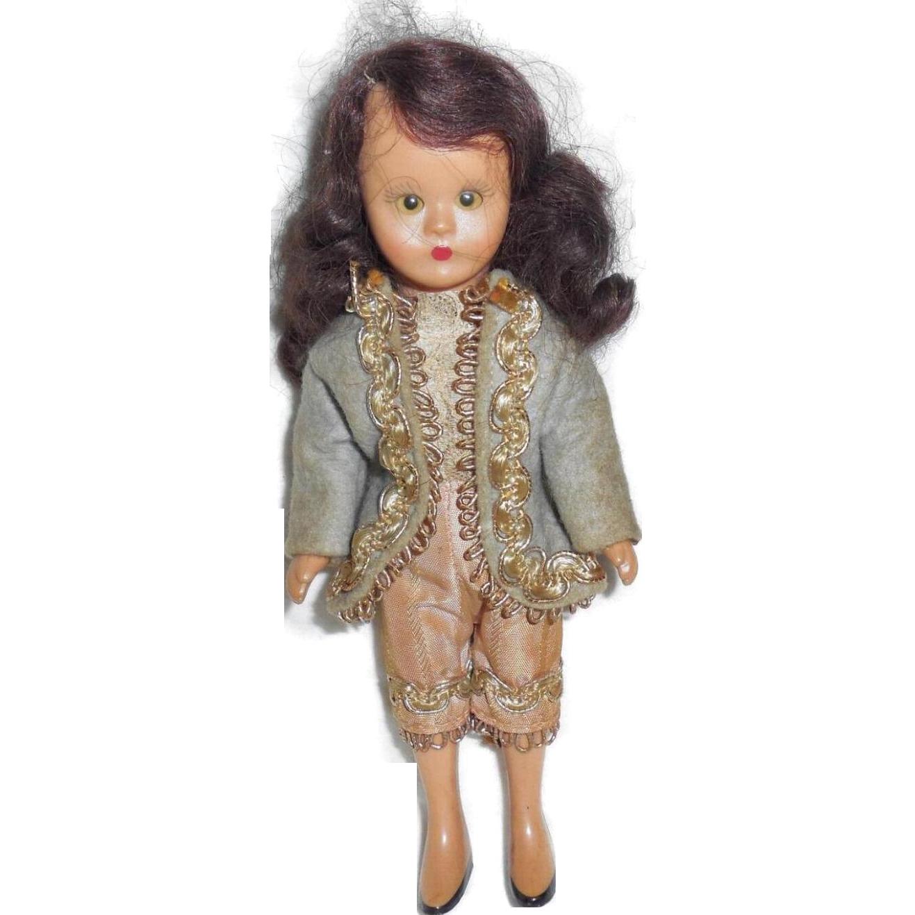 vintage nasb nancy ann hard plastic storybook doll boy costume story from regalities on ruby lane. Black Bedroom Furniture Sets. Home Design Ideas