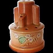 1937 Art Deco Roseville Art Pottery Clemana Flower Frog
