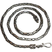 20 inch Sterling Silver 5mm Bali Byzantine Hook Necklace