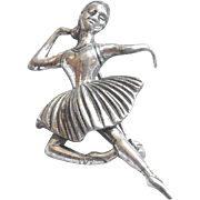 Mid Century Beau Sterling Silver Ballerina Scatter Pin