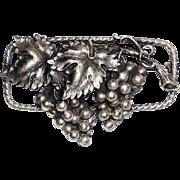Antique Art Nouveau Edwardian Sterling Silver Aesthetic Grapes Pin