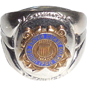 World War 2 WWII US Coast Guard Sterling Silver Mens Ring Size 8.5