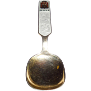 Scandinavian Bergen Norway Sterling Silver Gold Serving Spoon
