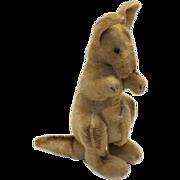 "Vintage 1950s Steiff Mohair 12"" Kangaroo Original Felt No Joey"