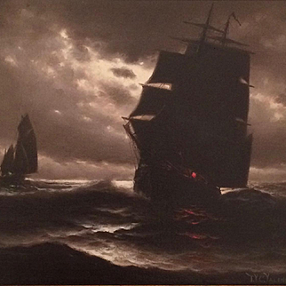 Mysterious Seascape by Theodore Valenkamph (1868-1924)