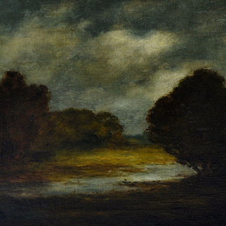 Tonalist Landscape by Illinois Artist Karl Emil Termohlen (1851 - 1938)
