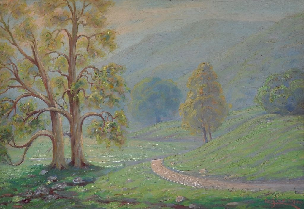Fine California Impressionist Landscape by Listed Artist Carl Zimmerman.