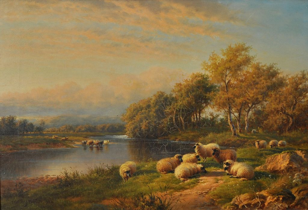 Fine Oil Painting By Well Listed Artist Walter J Watson