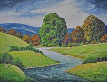 Nice Watercolor Landscape by New York/New Jersey Artist George Stimmel 1880-1964