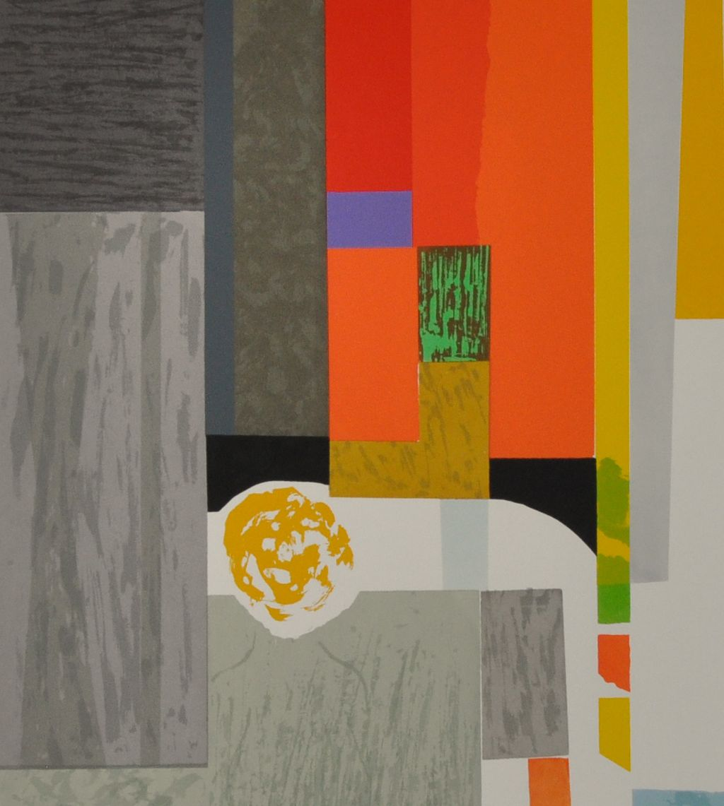 "Seong Moy Color Silkscreen Titled ""Cape Cod Interior"""