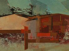 """""""Abstract House"""" Mixed Media on Board by Albert Patecky c. 1959"""