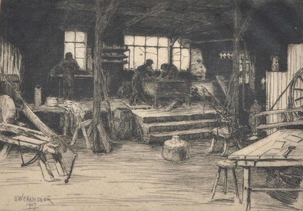 Chez Le Planeur, Fine Etching by George Walter Chandler
