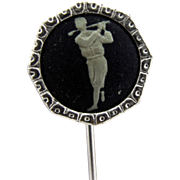Stick Pin with Golfer Taking a Swing
