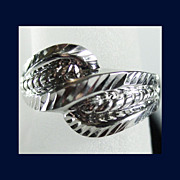14K White Gold Ring Size 5 1/4