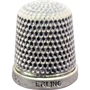 Sterling Silver Simons Brothers Co. Miniature Thimble - Child's or Salesman's Sample