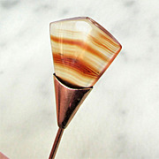 10K Banded Agate Stick Pin