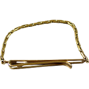 1940's Kreisler Gold Filled Necktie Clasp & Shirt Holder