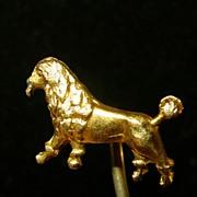 10K Yg Poodle Stick Pin