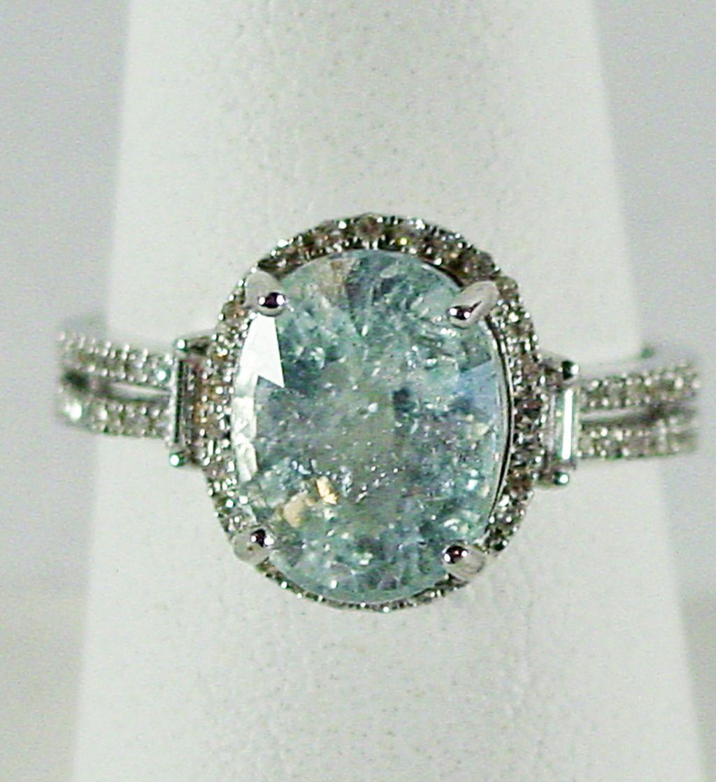 14k wg ice blue cuprian tourmaline diamond size 7 1 2