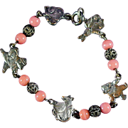 """1908-1914 Child's Character Bracelet """"The Wind and the Willows"""""""