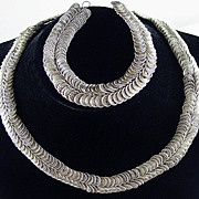 Heavy Sterling Silver Set with Necklace & Bracelet