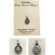 Guardian Angel Wrist Watch Medal in Sterling Silver - DI ROMA