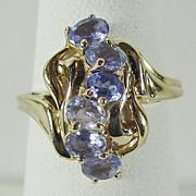 10K YG Natural Tanzanite Ring Size 6