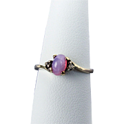 10K YG Pink Star Sapphire Ring, Size 7