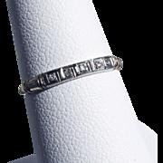 14K Gold Diamond Wedding Band Size 6 1/4 - Snug 6 1/2
