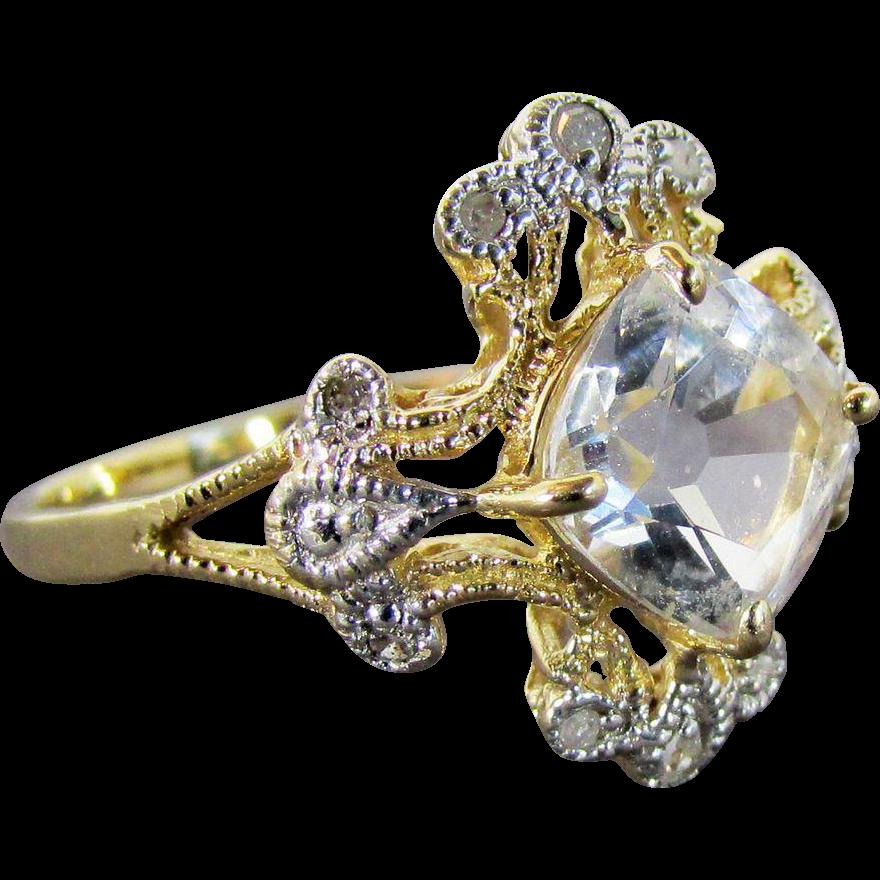 Goshenite Beryl Ring