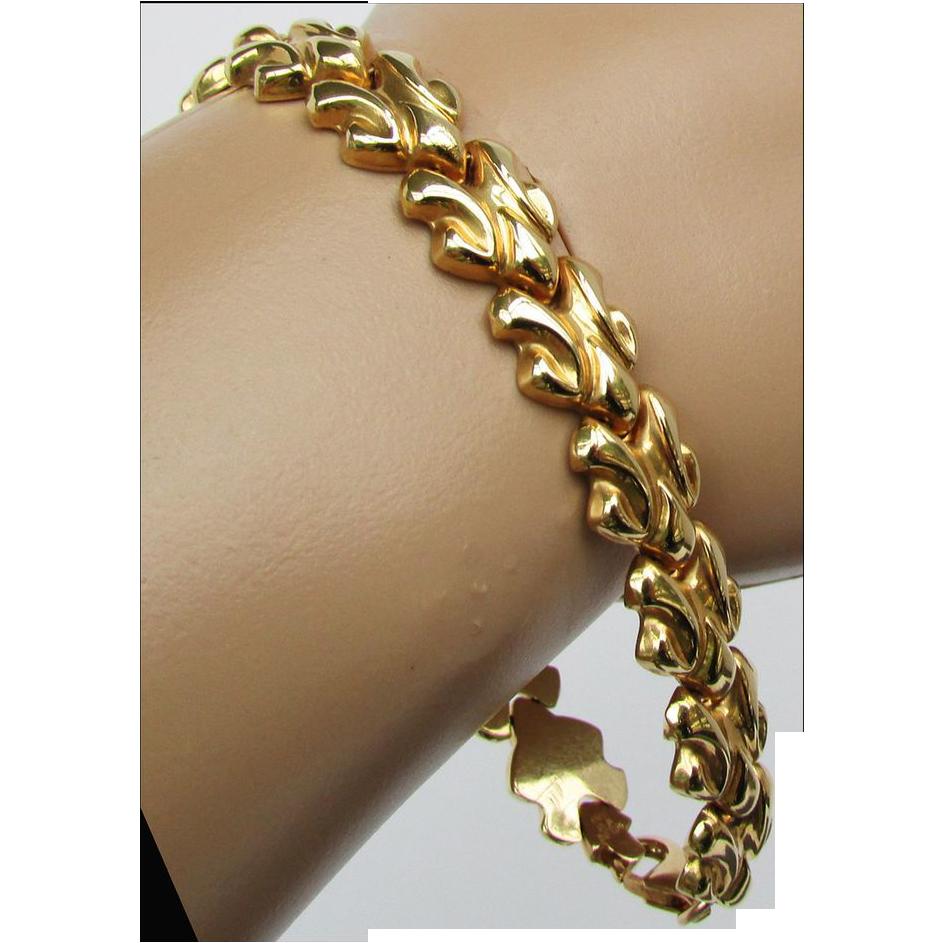 12 1 Grams 18k Italian Yg Bracelet 7 3 8 Inches The Strands Of Time Ruby Lane