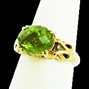 14K YG Peridot Ring Size 6