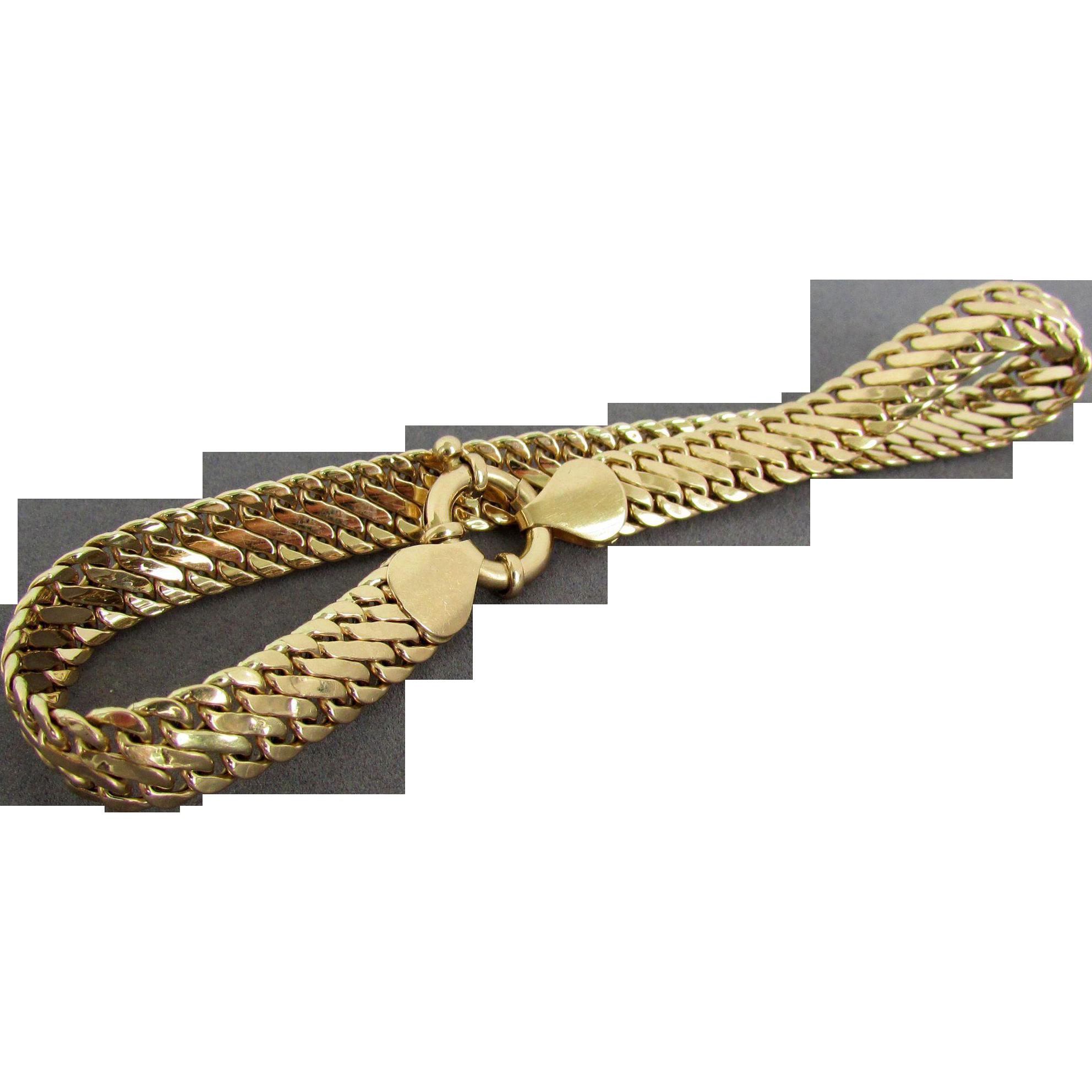 7.1 Grams, 14K Italian Yellow Gold Bracelet, 8 1/4 Inches Long ...