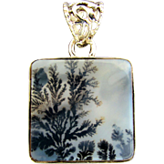 Top Quality Dendritic Agate Pendant