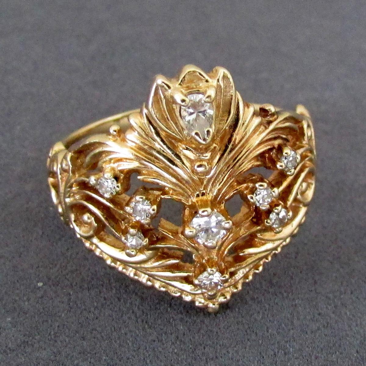 Faberge Diamond Tiara Ring